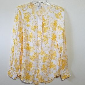 J CREW Yelliw Floral